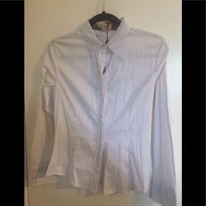 Burberry Button down blouse with ruffle detail